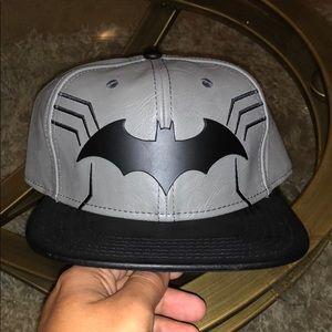 low priced 99fb3 1becf DC Comics Accessories - New leather Batman SnapBack Hat Cap Metal emblem